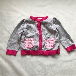 GYMBOREE Aztec pattern sweater -colour block back